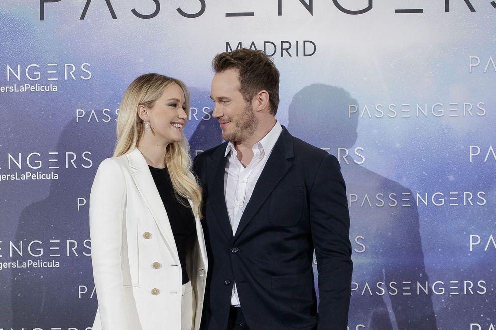 Jennifer Lawrence and Chris Pratt Attend ´Passengers´ Madrid Photocall / Bild: (c) Getty Images (Eduardo Parra)
